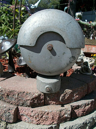 OLD SAFETRAN SYSTEMS RAILROAD CROSSING BELL SIGNAL- HEAVY METAL