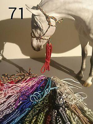 Knotenhalfter Halfter für Modellpferde von Breyer oder Resin freie Farbwahl online kaufen