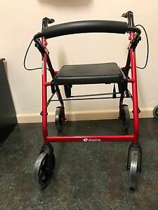 Aspire 4 Wheel Walker w/Oxygen bottle holder Aspendale Gardens Kingston Area Preview