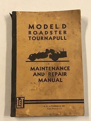 Letourneau-westinghouse Model D Roadster Tournapull Maintenance Repair Manual
