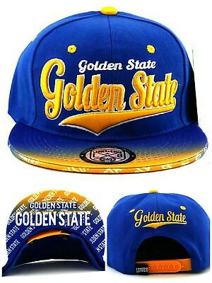 Golden State New Leader Tailsweeper Fade Warriors Blue Gold Era Snapback Hat Cap - Gold State Warriors