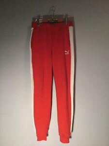Puma T7 Track Pants - Red/White