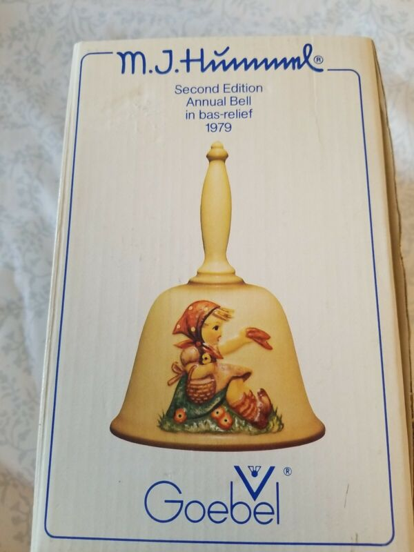 M J Hummel Second Edition Annual Bell in bas-relief 1979 Goebel 50497