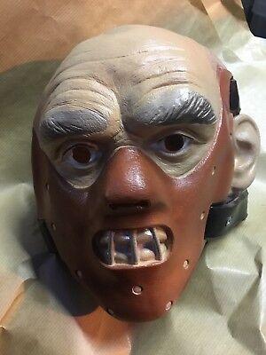 New 2003 Full Head Halloween Hannibal Lecter Caesar Latex Mask Rare Costume Prop