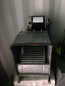 Furnace blower with new motor and belt.