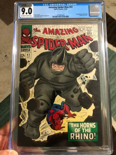 Amazing Spider-Man #41 CGC 9.0 OW/WHITE Pages CVA Exceptional 1st Rhino!