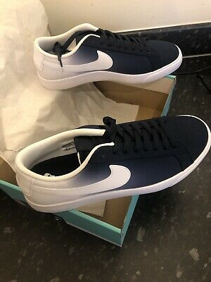 Nike Men's Sb Blazer Vapor Txt Obsidian/White Skate Shoe Trainers Sneakers 10 UK