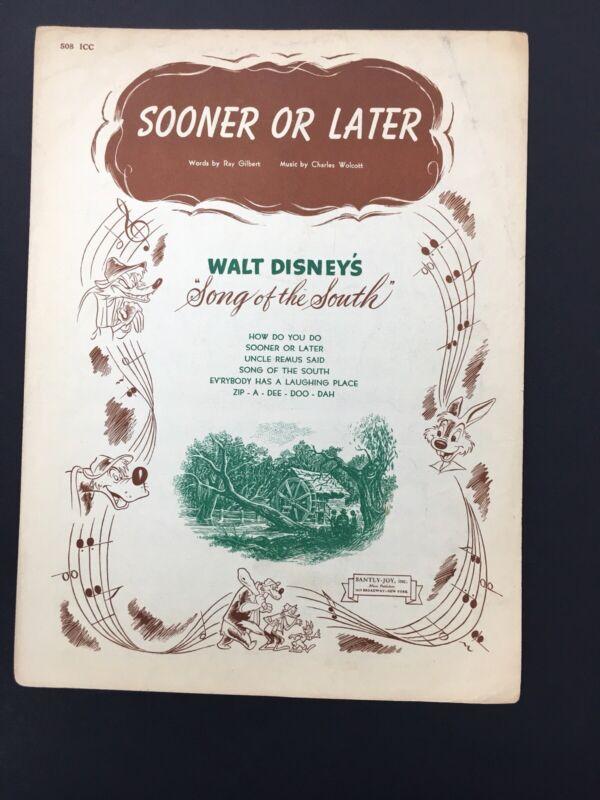 "Original ""Sooner or Later"" Sheet Music From Walt Disney"