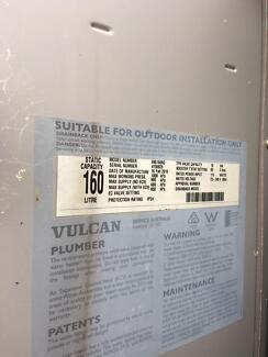 Vulcan 160l gas hot water