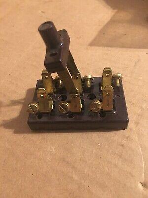 New Old Stock Vintage Rodale Knife Switch Forward Reverse Steampunk Bakelite