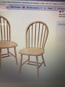 Looking for Wooden curved back chair