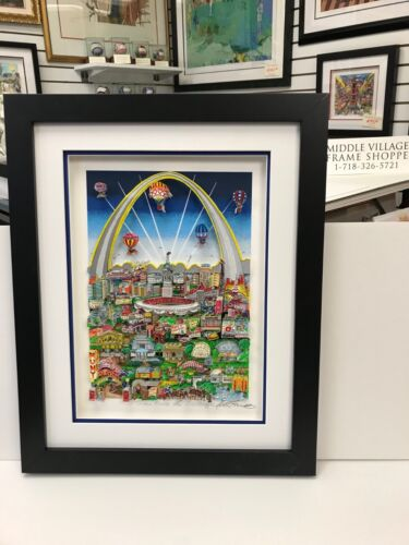 """Charles Fazzino 3D Artwork """" St.Louis Meets The Mississippi """" Signed & Numbered"""