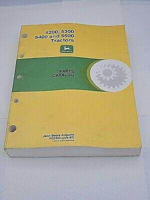 John Deere 5200 5300 5400 5500 Tractors Parts Catalog Book Manual Pc2332 Jun 97