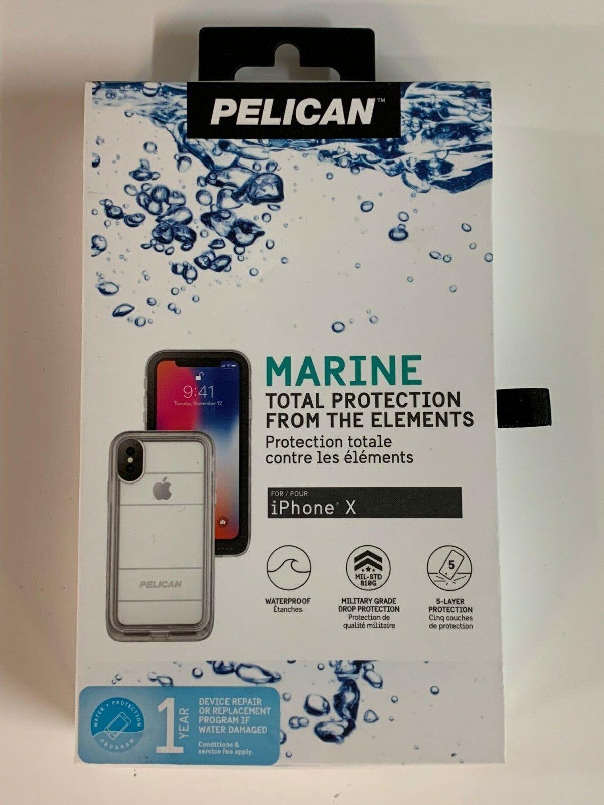 Pelican Marine IP68 Waterproof Military Case for iPhone X Cl