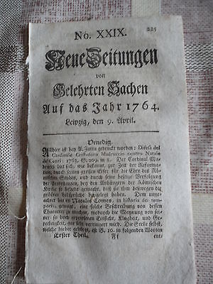 1764 20 Leipzig Johann Gottlieb Lindner aus Bärenstein Arnstadt