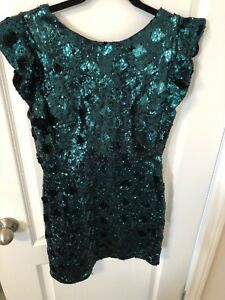 Emerald green sparkle short dress from Zara
