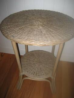 Table - round cane side table