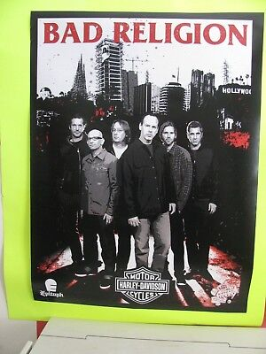 2007 Bad Religion Warped Tour 24 x 18 Poster -New