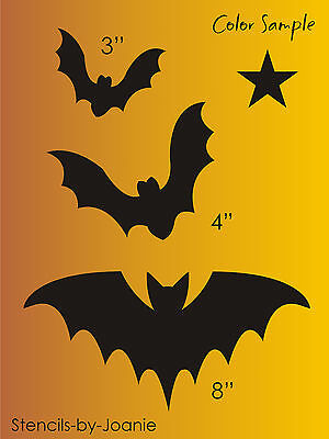 Stencil Batty Black Bats Halloween Spooky Bird Shapes Signs Holiday Art craft