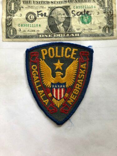 Ogallala Nebraska Police Patch pre-sewn in good shape