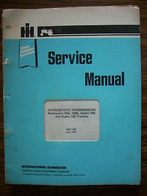 Ih Farmall International 966 1066 Hydro 100 Hydro186 Transmission Service Manual