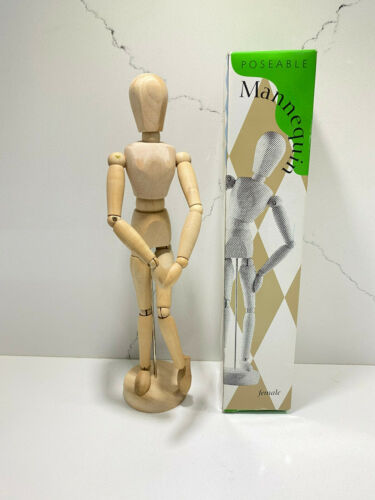 1996 Accountrements Poseable Articulated Wood Mannequin Female