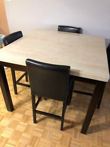 Bar height Dining table for 4