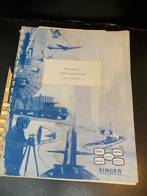 Singer Communications Service Monitor Fm-10 Mdm-1 Operations Manual