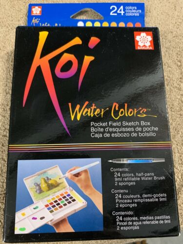 Sakura XNCW-24N 24-Piece Koi Assorted Water Colors Field Sketch Set With Brush - $12.00