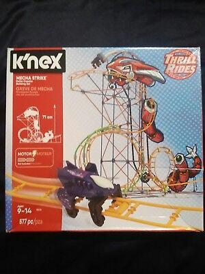 Knex Thrill Rides  Mecha Strike Brand New Roller Coaster Building Set