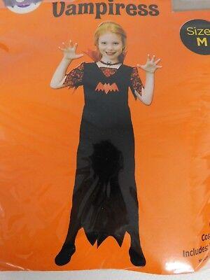 Dress Up Vampire Halloween (Pretty Vampiress Girl's Vampire Halloween Dress-Up Costume 8-10 Medium)