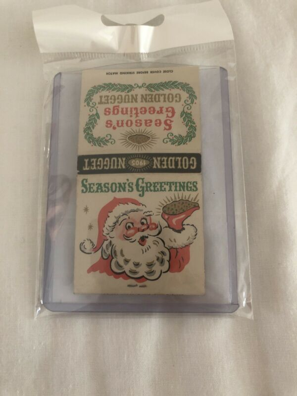 Vintage Las Vegas Matchbook Golden Nugget Holiday Unstruck