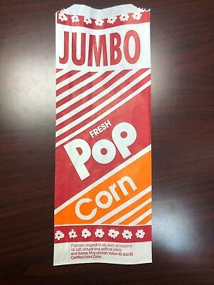 Popcorn Bags 500 12 2oz Large Bag Great Size New