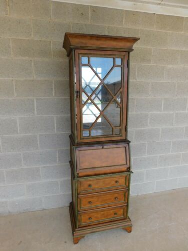 Pulaski Furniture 2pc Secretary Desk Display Cabinet