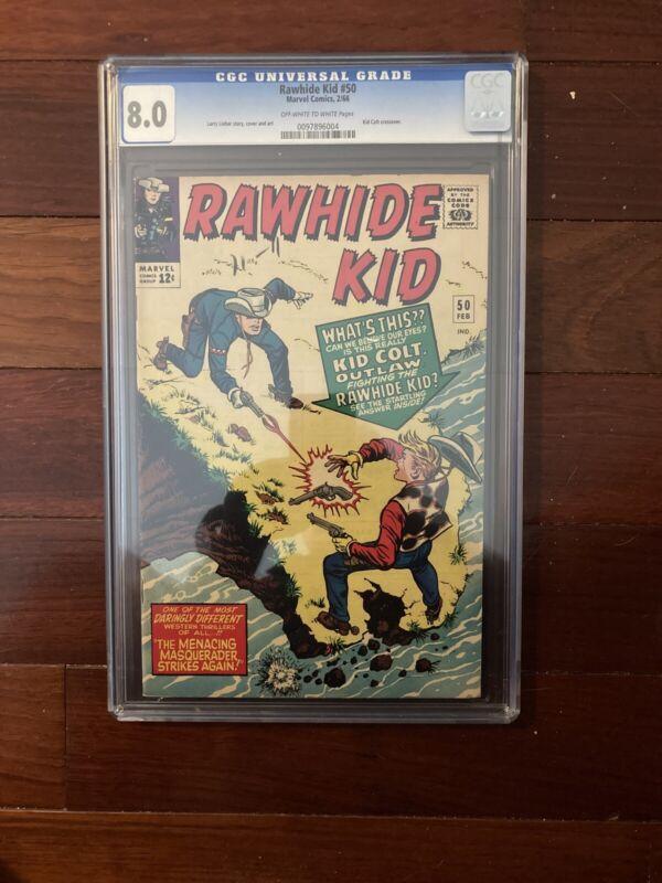 Rawhide Kid Comic Book Issue 50 Cgc 8.0 Marvel Western  1966