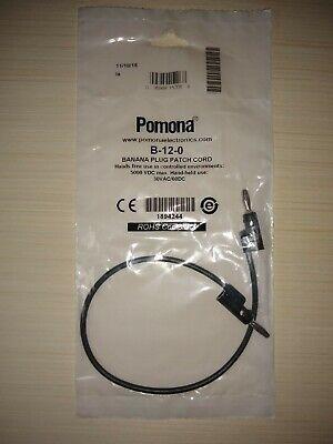 Pomona B-12-0 Banana Plug To Banana Plug
