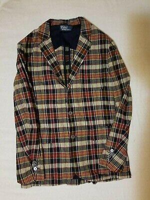 Polo Ralph Lauren Men's India Madras Plaid Blazer Sport Suit Coat Jacket M