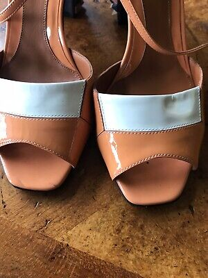 Fendi Mixed Leather-Color shoes womenHeels Great Condition Size 37.5