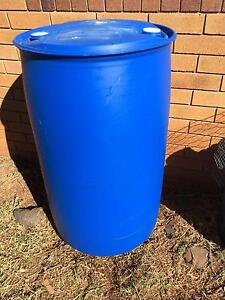 Blue Polyethylene Plastic Drums 200L - Very Good Condition Centenary Heights Toowoomba City Preview