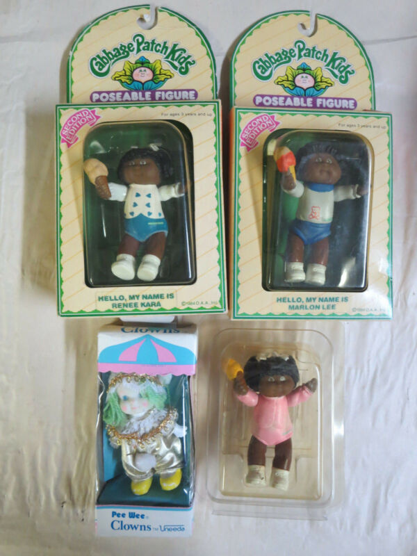 Cabbage Patch Kids Poseable Figure Lot of 3 Black var. 2nd Edition