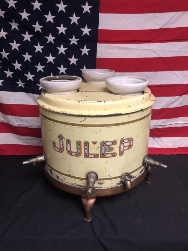 RARE Antique 1905 Julep Triple Spout Drink Dispenser ORIGINAL!