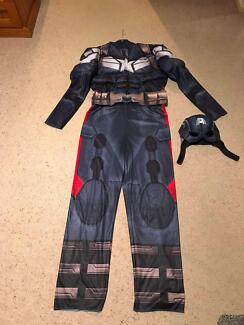 Mens Captain America Costume/Halloween/Dress up/party