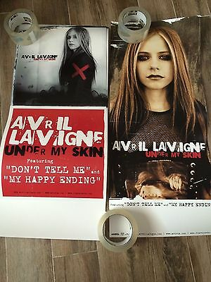AVRIL LAVIGNE-(under my skin)-1 POSTER-2 SIDED-12X28 GOOD CONDITION