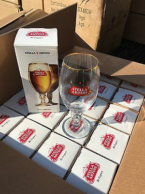 Stella Artois 33 Cl Glasses Set Of 2 In Gift Boxes