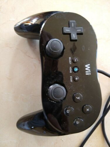 Official OEM Genuine Nintendo Wii U Brand Classic Controller Pro Black RVL-005 - $21.50