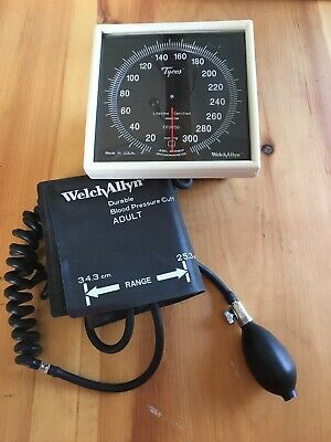 Welch Allyn Tycos Wall Mount Aneroid Sphygmomanometer Pump Cuff See Details