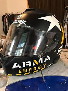"""Motorcycle Helmet """"Shark Speed-R"""" w/ Bluetooth BARELY USED North Melbourne Melbourne City Preview"""