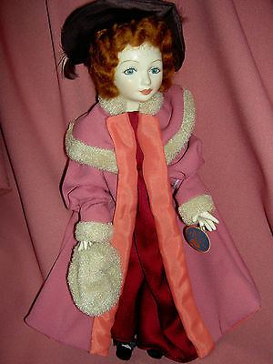 """Royal Doulton, Nisbet tagged, KATE GREENAWAY series, """"The Muff"""" porcelain doll"""