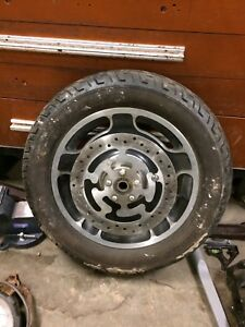 Street Glide front wheel and rotors.