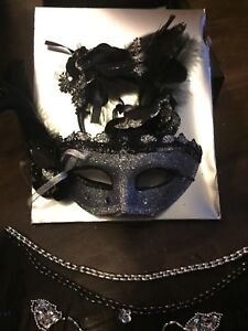 Black mask and neck piece